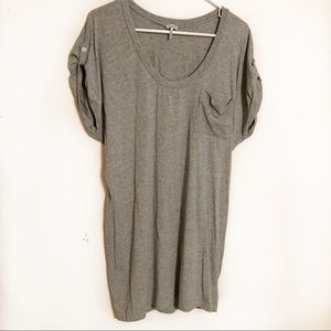 Splendid pocket tee rolled sleeve tunic top
